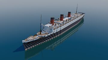 RMS Queen Mary 1936 1:1 Exterior Only (Bedrock+Java) Minecraft Map & Project