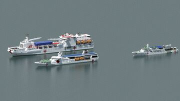 Hospital ship Minecraft Map & Project