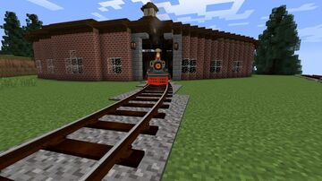 Martinsburg Roundhouse for Immersive Railroading Minecraft Map & Project