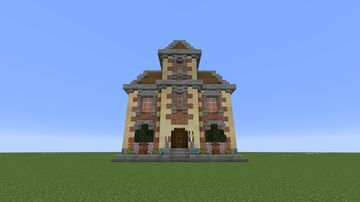 Modest Town Hall Minecraft Map & Project