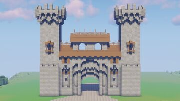 Great Castle (Castle Gate) Minecraft Map & Project