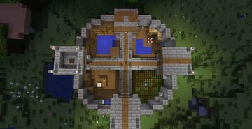 Circular Rustic Base (With Map Download!!!! Finally!) Minecraft Map & Project