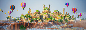 "Ray Tracing Map - ""Ahsa"" The Palace Of Oase Minecraft Map & Project"