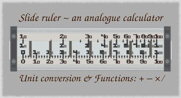 Slide ruler - an analogue (functional/working) calculator Minecraft Map & Project