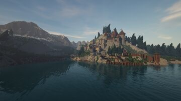 The village of the Lake //  Le village du Lac Minecraft Map & Project