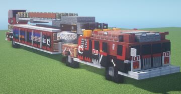 Tunnel to Towers 9/11 FDNY Tribute Model Aerial Fire Truck (1.5:1 Scale) Minecraft Map & Project