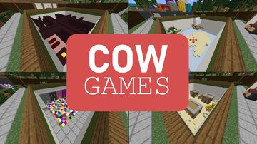 Cow Games - 13 Action Packed Minigames In One Party Pack! Minecraft Map & Project