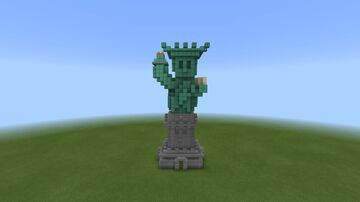 A Simple Statue of Liberty! Minecraft Map & Project