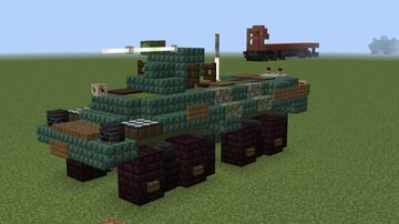 1.5:1 scale BTR-80A/82 Minecraft Map & Project