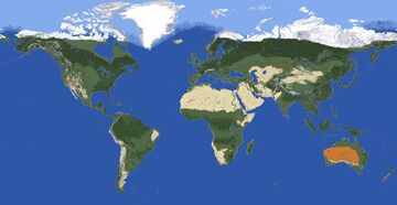 1:924 Scale Earth Map Minecraft Map & Project