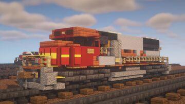 "BNSF - EMD SD75M ""Santa-Fe"" Minecraft Map & Project"