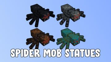 Spider Mob Statues Minecraft Map & Project