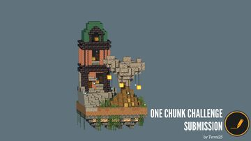One Chunk Small Mansion (For the Spoopy Month) Minecraft Map & Project