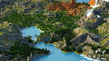 Yinkrono - 1.18 Caves and Cliffs  (Download, 4k, 1.17+, [Mod Free] Java & Bedrock, Realistic Multibiome Minecraft Survival World) Minecraft Map & Project