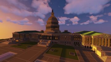 United States Capitol Building (U.S. Capitol) Minecraft Map & Project
