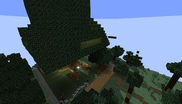 Casa del arbol moderno / Modern tree house Minecraft Map & Project