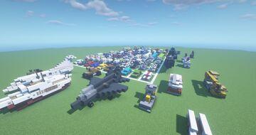[1.16.5] Vehicles Pack (100+ Schematics) Minecraft Map & Project