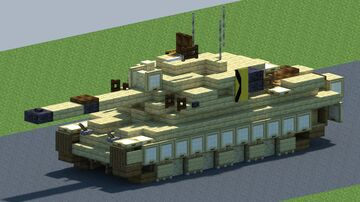 Challenger 2, Main Battle Tank [With Download] Minecraft Map & Project
