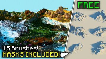FREE WORLDPAINTER BRUSHES - MOUNTAINS - MASKS INCLUDED Minecraft Map & Project