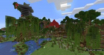 Cottage core house (With farms) Minecraft Map & Project