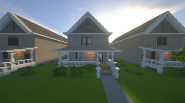 Traditional American Suburban Home Minecraft Map & Project