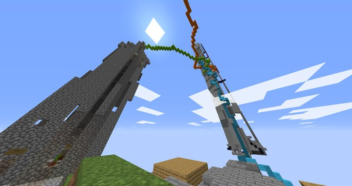 Both tall structures here are made from a lava cast.