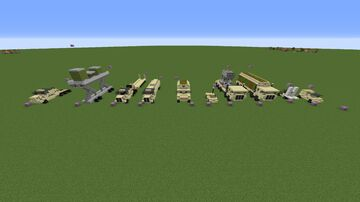 Army/Military Vehicle schematic Minecraft Map & Project