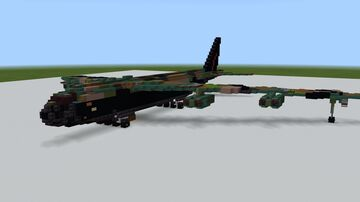 Boeing B-52 D 1.5:1 Minecraft Map & Project