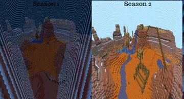 "1v1 Mesa biome season 2 ""Badlands"" Minecraft Map & Project"