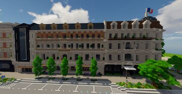 Neo Parisian Street Minecraft Map & Project