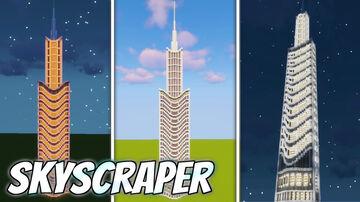Build a Realistic Skyscraper in MINECRAFT Minecraft Map & Project