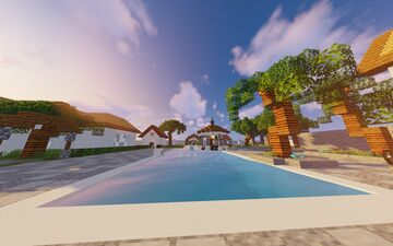 Minecraft City With 2 Mansions And A Mosque Minecraft Map & Project