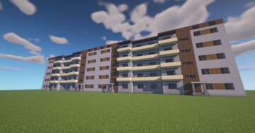 Soviet apartment building Minecraft Map & Project