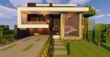 Modern House #116  (Map + Schematic) Minecraft Map & Project