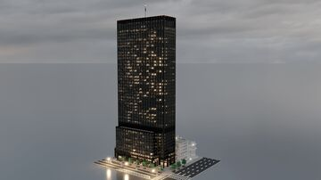 CBC New Limesville Tower (Complete Remake) | New Limesville City | NL | UCS Minecraft Map & Project