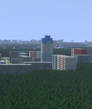 Block of flats in Tychy (Poland) Minecraft Map & Project