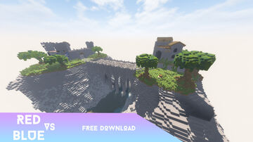 SCHEMATIC | Red vs Blue map - 500x500 Huge PvP map [ Free Download ] Minecraft Map & Project