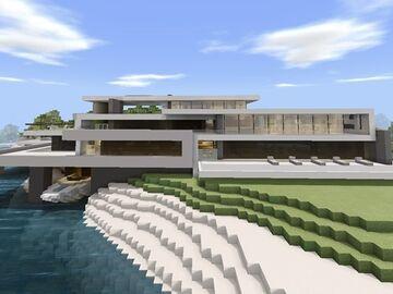 Modern Redstone Mansion V.1 Minecraft Map & Project