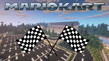Mario Kart In Minecraft | With A Custom Resource Pack Minecraft Map & Project