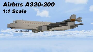 Airbus A320-200 1:1 Scale Minecraft Map & Project
