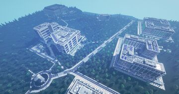 HMANS - Modern University Campus (Approx. 1000 by 800 blocks) Minecraft Map & Project