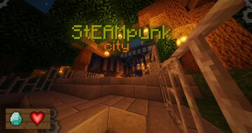 ⚙️ Steampunk city ⚙️ / My survival on the server Minecraft Map & Project
