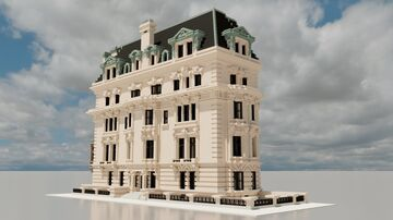 1028 Fifth Avenue - 3:1 Scale Beaux Arts Corner Building Minecraft Map & Project