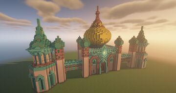 City hall, Conflux Style City by QbaQ, HoMM III inspiration Minecraft Map & Project