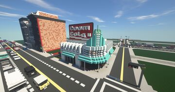 """1950s """"Ursula's"""" Diner Minecraft Map & Project"""