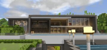 Modern Mansion 7 - Woodland House Minecraft Map & Project
