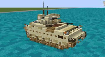 M2a3 Bradley Infantry Fighting Vehicle (2:1 Scale) Minecraft Map & Project
