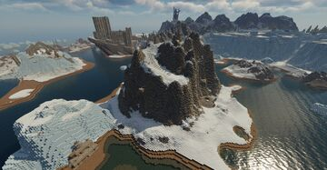 Ysgramor's Tomb, nordic ruin with full interior (Skyrim TES) Minecraft Map & Project