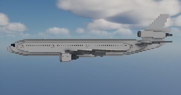 McDonnell Douglas DC-10 1.5:1  Scale Minecraft Map & Project