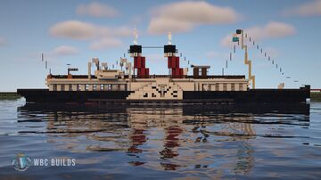 Solent Class Paddle Steamers - Edwardian Passenger Ferry Minecraft Map & Project